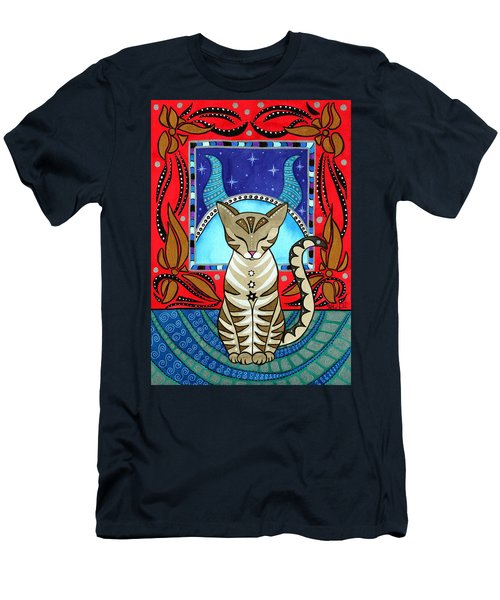 Taurus Cat Zodiac Men's T-Shirt (Athletic Fit)