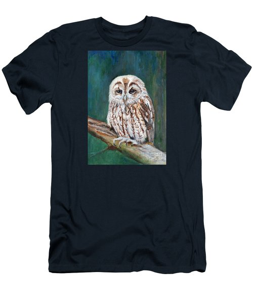 Tawny Owl Men's T-Shirt (Slim Fit) by Veronica Rickard
