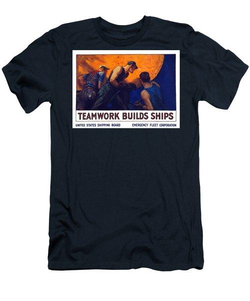 Teamwork Builds Ships Men's T-Shirt (Athletic Fit)