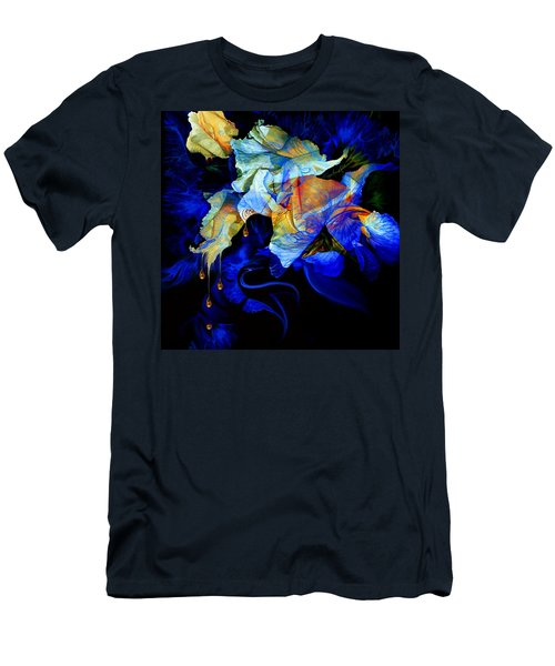 Men's T-Shirt (Athletic Fit) featuring the painting Tears In My Garden by Hanne Lore Koehler