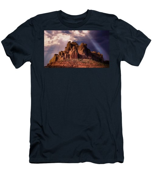 Temple Of Red Stone Men's T-Shirt (Athletic Fit)