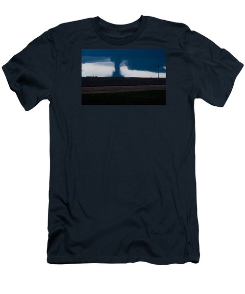 Terror On The Horizon In Western Kansas Men's T-Shirt (Slim Fit) by Shirley Heier
