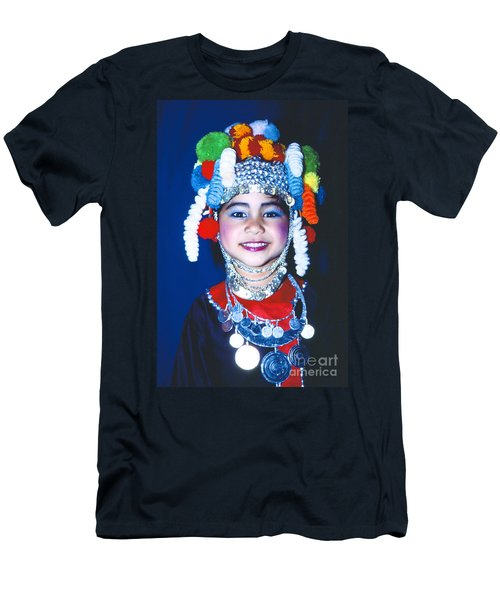 Men's T-Shirt (Slim Fit) featuring the photograph Thai Girl Traditionally Dressed by Heiko Koehrer-Wagner