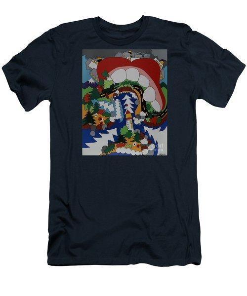 The Big Bite Men's T-Shirt (Slim Fit) by Rojax Art