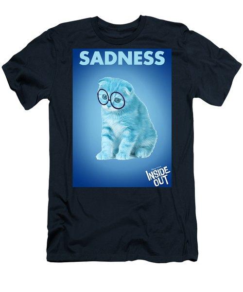 The Cat Sadness Men's T-Shirt (Slim Fit) by Sheila Mcdonald