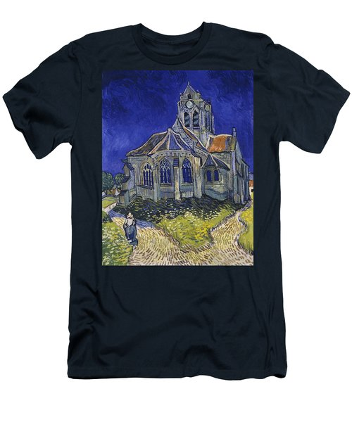 Men's T-Shirt (Athletic Fit) featuring the painting The Church At Auvers by Van Gogh