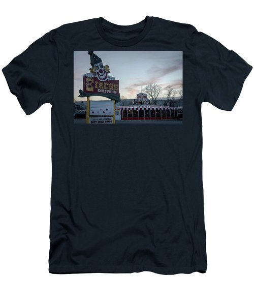Men's T-Shirt (Slim Fit) featuring the photograph The Circus Drive In Wall Township Nj by Terry DeLuco