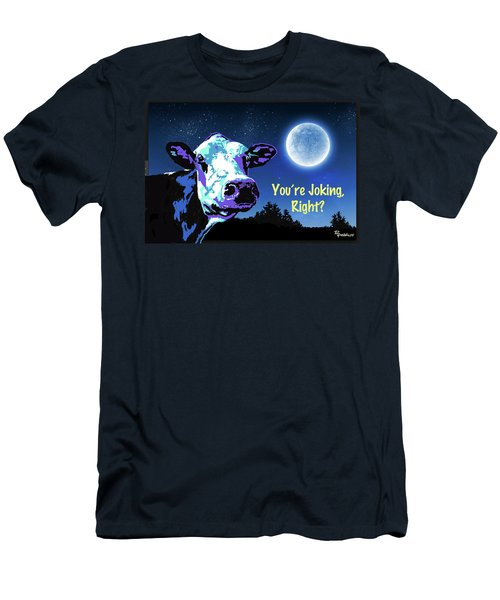 The Cow Jumps Over The Moon Men's T-Shirt (Athletic Fit)