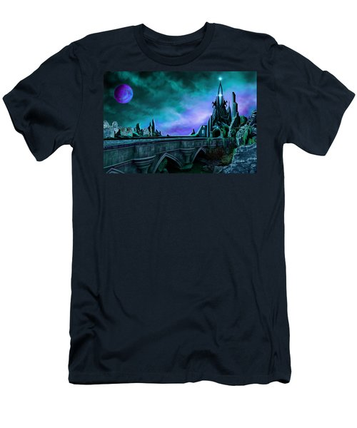 Men's T-Shirt (Slim Fit) featuring the painting The Crystal Palace - Nightwish by James Christopher Hill