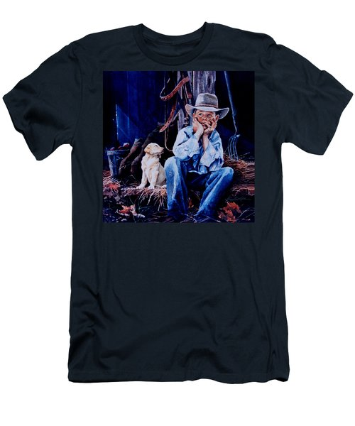 Men's T-Shirt (Athletic Fit) featuring the painting The Dilemma by Hanne Lore Koehler