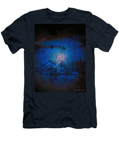 The Edge Of Night Men's T-Shirt (Slim Fit) by Steve Warnstaff