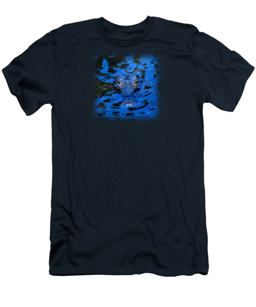 The Eyes Of A Florida Alligator Men's T-Shirt (Slim Fit) by John Harmon