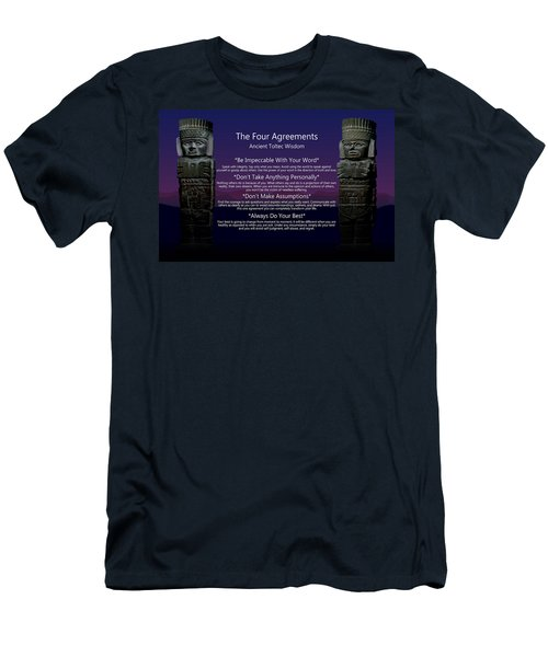 The Four Agreements Poster Men's T-Shirt (Athletic Fit)