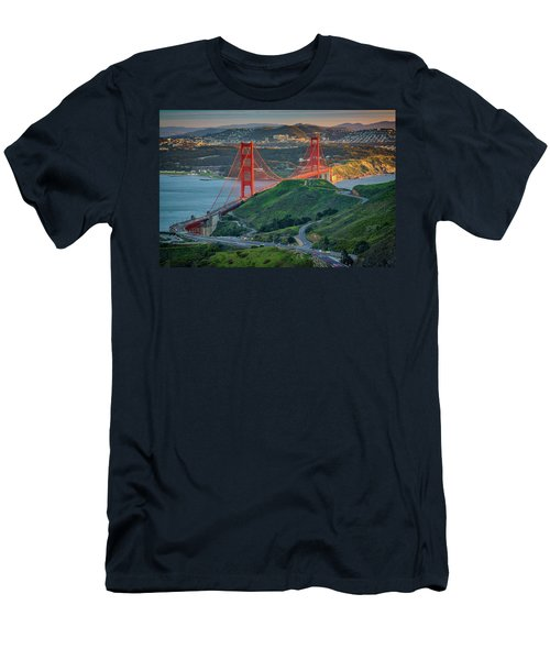 The Golden Gate At Sunset Men's T-Shirt (Athletic Fit)