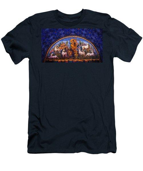 Men's T-Shirt (Slim Fit) featuring the photograph The Good Shepherd by Nigel Fletcher-Jones