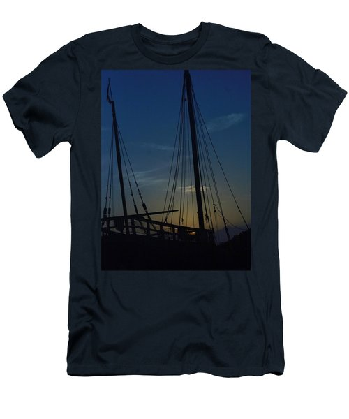 Men's T-Shirt (Slim Fit) featuring the photograph The Journey Began by John Glass