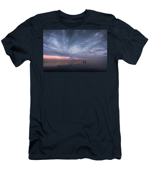 The Journey Of The Swans Men's T-Shirt (Slim Fit) by Dominique Dubied