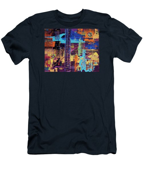 The La Sky On The 4th Of July Men's T-Shirt (Athletic Fit)