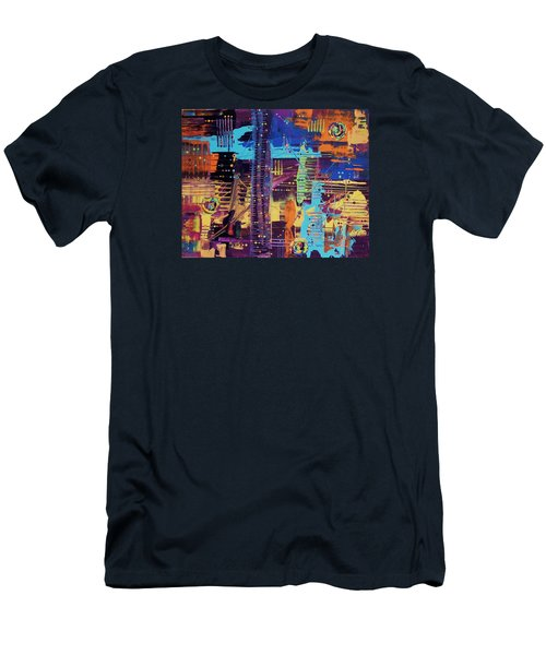 The La Sky On The 4th Of July Men's T-Shirt (Slim Fit)