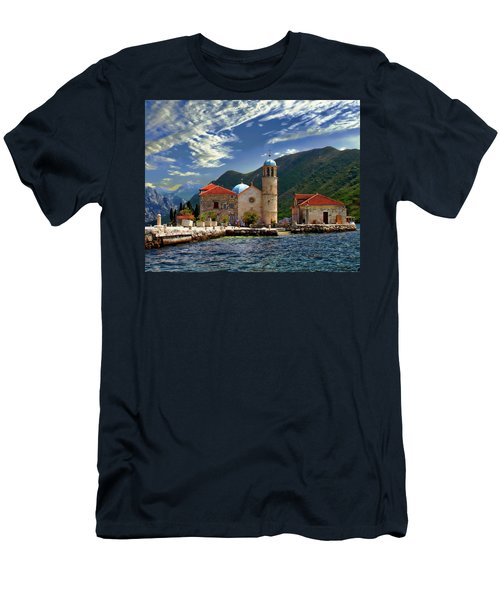 Men's T-Shirt (Athletic Fit) featuring the photograph The Lady Of The Rocks by Anthony Dezenzio