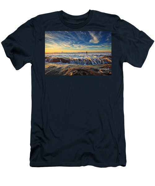 The Lone Surfer Men's T-Shirt (Athletic Fit)