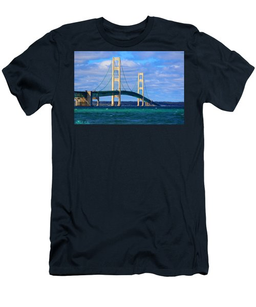 The Mackinac Bridge Men's T-Shirt (Athletic Fit)
