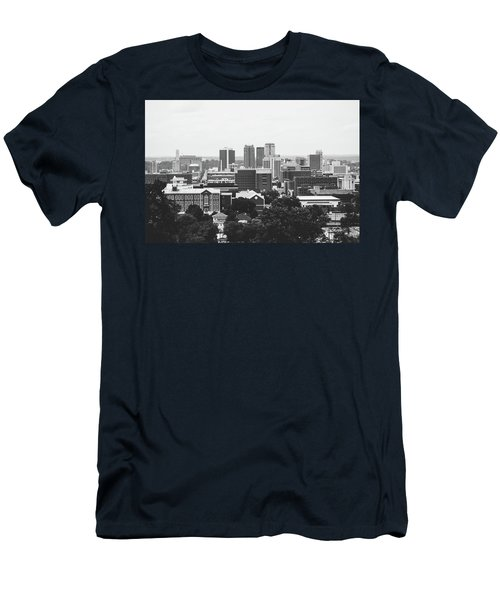 Men's T-Shirt (Slim Fit) featuring the photograph The Magic City In Monochrome by Shelby Young