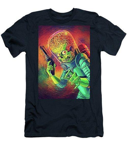 The Martian - Mars Attacks Men's T-Shirt (Slim Fit) by Taylan Apukovska