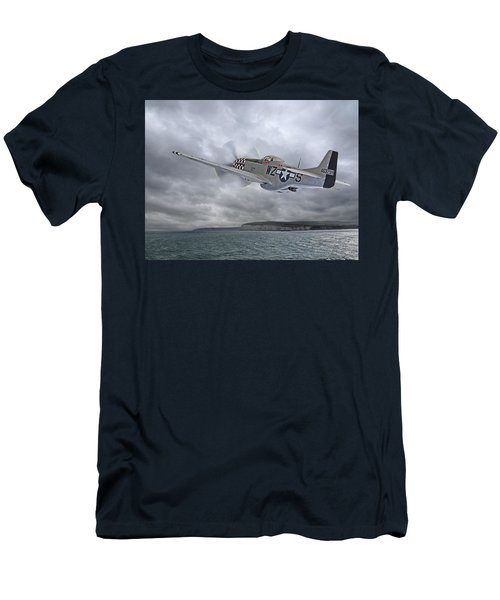 The Mission - P51 Over Dover Men's T-Shirt (Athletic Fit)
