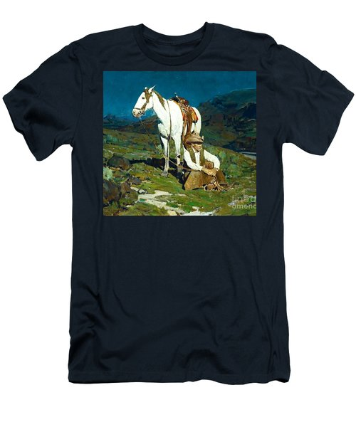 Men's T-Shirt (Slim Fit) featuring the painting The Night Hawk by Pg Reproductions
