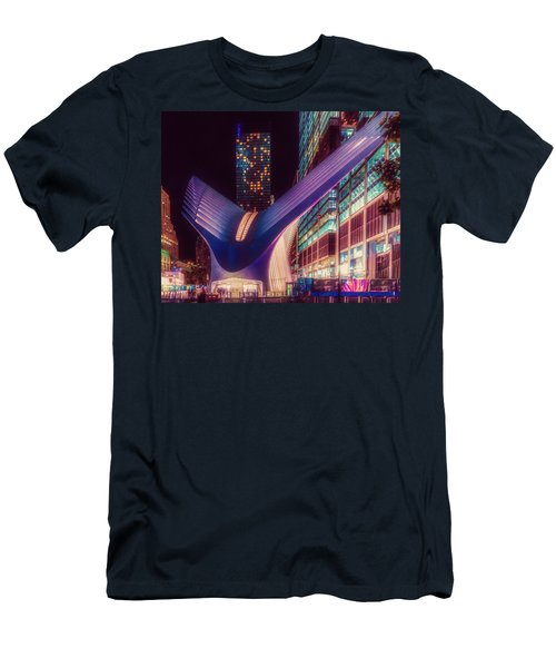 Men's T-Shirt (Athletic Fit) featuring the photograph The Occulus At Midnight by Chris Lord