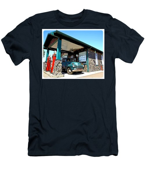 The Old Texaco Station Men's T-Shirt (Slim Fit) by Steve McKinzie