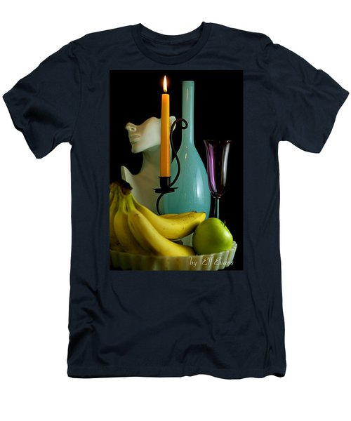 Men's T-Shirt (Athletic Fit) featuring the photograph The Orange Candle by Elf Evans