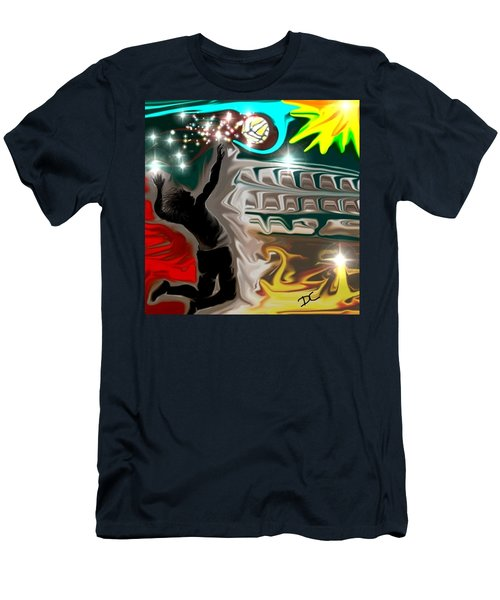 The Power Of Volleyball Men's T-Shirt (Athletic Fit)
