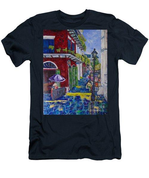 The Purple Umbrella        Pirates Alley Men's T-Shirt (Athletic Fit)
