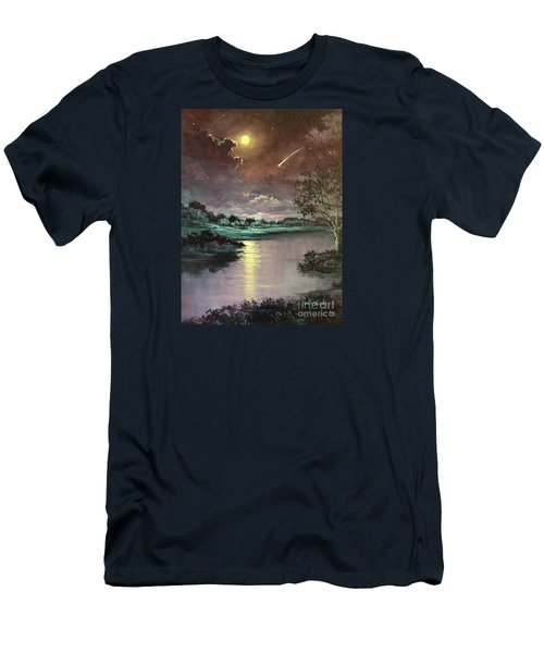 The Silence Of A Falling Star Men's T-Shirt (Slim Fit) by Randy Burns