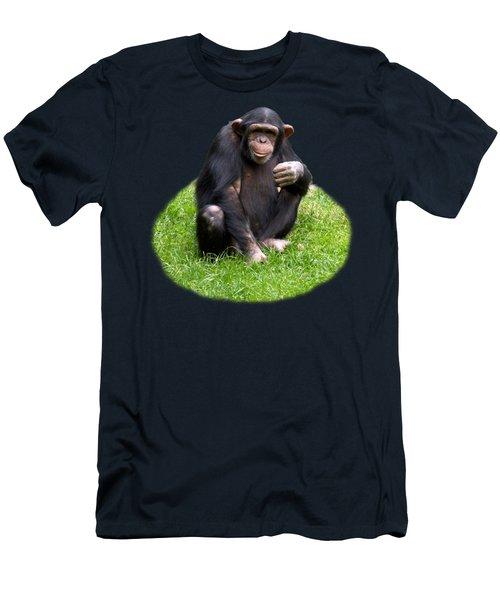 The Smiling Chimp Transparent Men's T-Shirt (Athletic Fit)