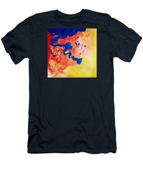 Men's T-Shirt (Slim Fit) featuring the painting The Spill by Mary Kay Holladay