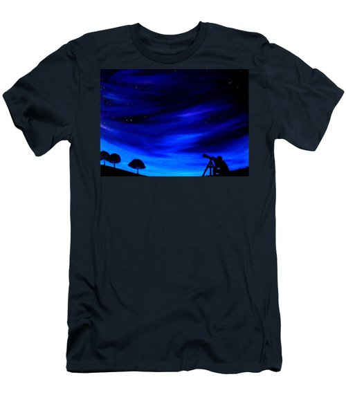 Men's T-Shirt (Slim Fit) featuring the painting The Star Gazer by Scott Wilmot
