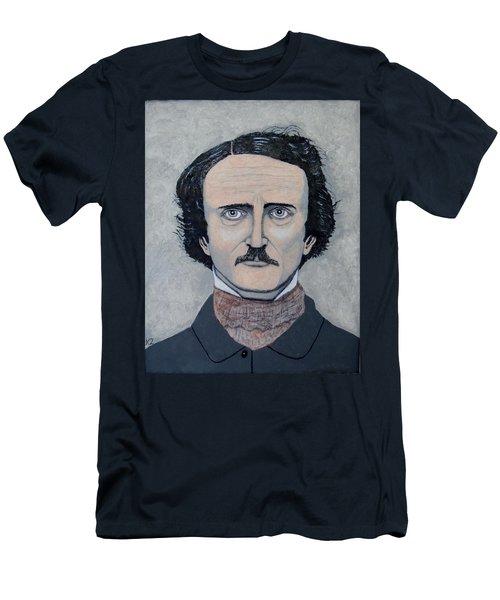 Men's T-Shirt (Slim Fit) featuring the painting The Telltale Heart Of Edgar Allen Poe. by Ken Zabel