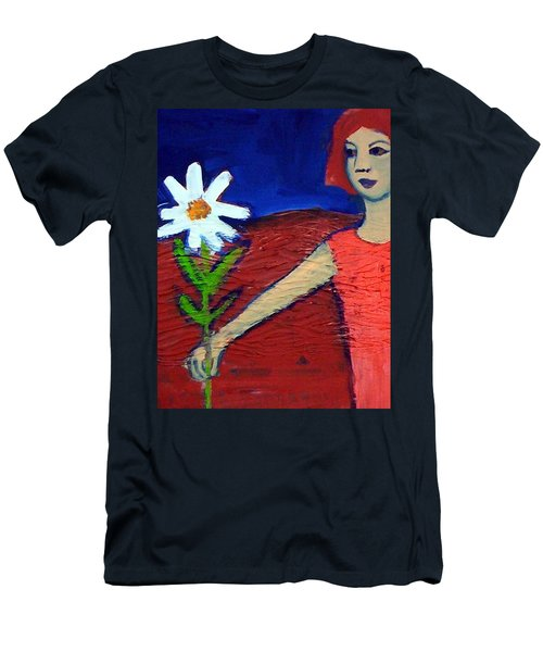 The White Flower Men's T-Shirt (Athletic Fit)