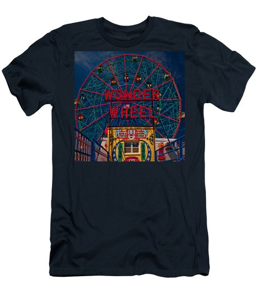 The Wonder Wheel At Luna Park Men's T-Shirt (Athletic Fit)