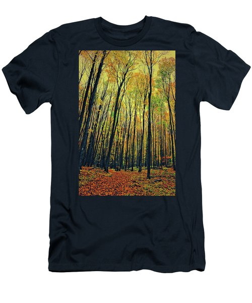 Men's T-Shirt (Athletic Fit) featuring the photograph The Woods In The North by Michelle Calkins