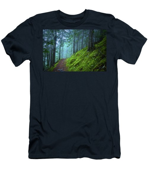 Men's T-Shirt (Slim Fit) featuring the photograph There Is Light In This Forest by Tara Turner