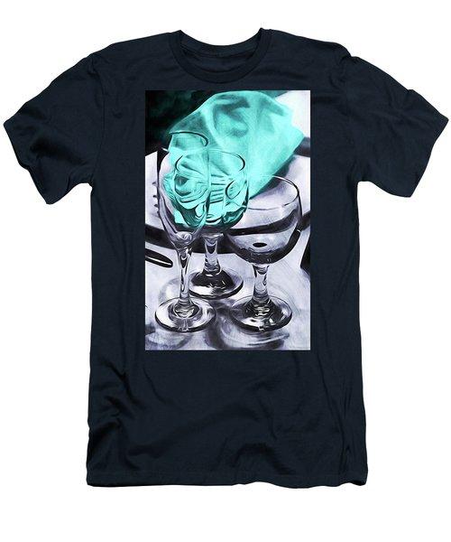 Three Glass Illusion Men's T-Shirt (Athletic Fit)