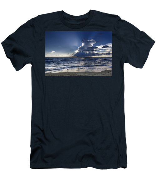 Men's T-Shirt (Athletic Fit) featuring the photograph Three Ibises Before The Storm by Steven Sparks