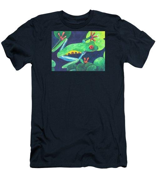 Through The Lily Pads. Men's T-Shirt (Slim Fit) by Vivien Rhyan