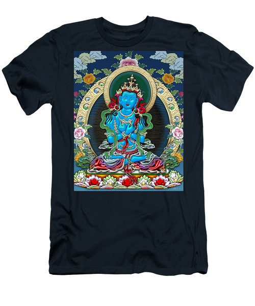 Tibetan Thangka -  Vajradhara Men's T-Shirt (Slim Fit) by Serge Averbukh