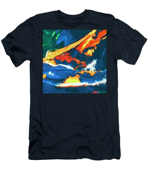 Men's T-Shirt (Slim Fit) featuring the painting Tidal Forces by Dominic Piperata