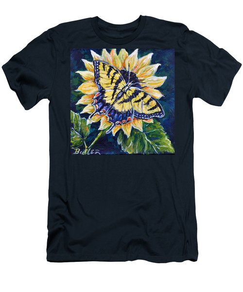 Tiger And Sunflower Men's T-Shirt (Athletic Fit)